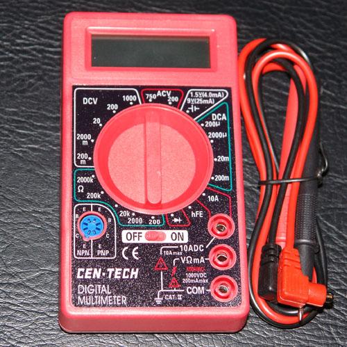Cen Tech Multimeter : Multimeter